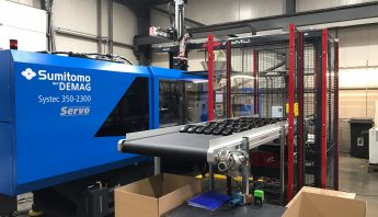 350 Demag Injection Moulding Machine and Conveyor